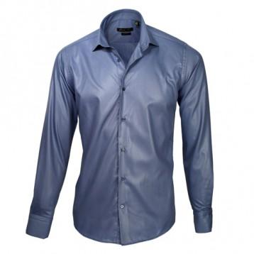 Blue Sateen Oxford Shirt