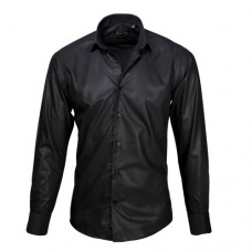 Black Sateen Oxford Shirt