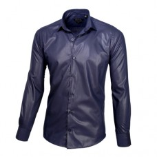 Dark Blue Sateen Oxford Shirt
