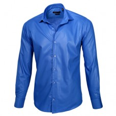 Royal Blue Sateen Oxford Shirt