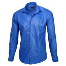 Royal Blue Sateen Oxford Shirt
