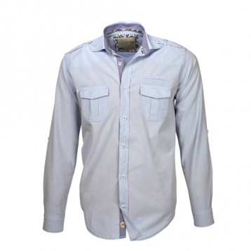 Baby Blue Double Pocket Oxford Shirt