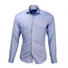 Baby Blue Double Pocket Shirt
