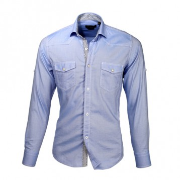 Baby Blue Double Pocket Shirt