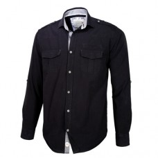 Black Double Pocket Shirt