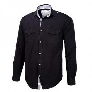 Black Double Pocket Shirt