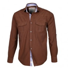 Brown Double Pocket Shirt