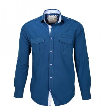 Blue Double Pocket Shirt