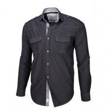Dark Gray Double Pocket Shirt