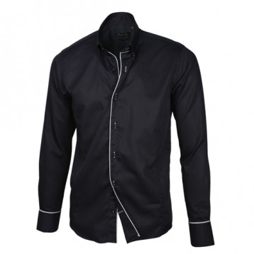 Black with White Trim Shirt