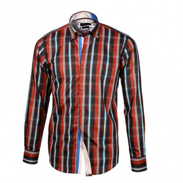 Red, Brown & Gray Plaid Shirt